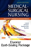 Medical-Surgical Nursing (Two-Volume set) - Text and Elsevier Adaptive Quizzing (Access Card) Updated Edition Package, 9th Edition