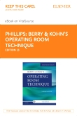 cover image - Berry & Kohn's Operating Room Technique - Elsevier eBook on VitalSource (Retail Access Card),13th Edition