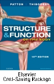 cover image - Structure and Function of the Human Body - Text and Elsevier Adaptive Learning (Access Card) and Elseiver Adaptive Quizzing (Access Card) Package,15th Edition