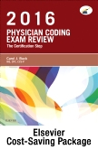Physician Coding Exam Review 2016 - Elsevier eBook on Intel Education Study + Evolve Access (Retail Access Cards)