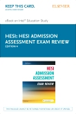 Admission Assessment Exam Review - Elsevier eBook on Intel Education Study (Retail Access Card), 4th Edition