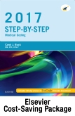 cover image - Step-by-Step Medical Coding 2017 Edition - Text, Workbook, 2017 ICD-10-CM for Hospitals Professional Edition, 2017 ICD-10-PCS Professional Edition, 2017 HCPCS Professional Edition and AMA 2017 CPT Professional Edition Package