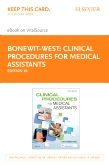 cover image - Clinical Procedures for Medical Assistants - Elsevier eBook on VitalSource  (Retail Access Card),10th Edition