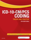 cover image - ICD-10-CM/PCS Coding: Theory and Practice, 2019/2020 Edition Elsevier eBook on VitalSource