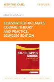cover image - ICD-10-CM/PCS Coding: Theory and Practice, 2019/2020 Edition Elsevier eBook on VitalSource (Retail Access Card)