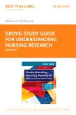 cover image - Study Guide for Understanding Nursing Research Elsevier eBook on VitalSource (Retail Access Card),7th Edition