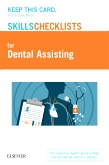 cover image - Elsevier's Skills Checklists for Dental Assisting (Access Card)