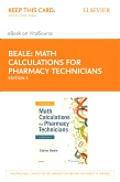 cover image - Math Calculations for Pharmacy Technicians Elsevier eBook on VitalSource (Retail Access Card),3rd Edition