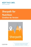 cover image - Sherpath for Nutrition (Grodner Version) - Access Card,6th Edition