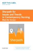 cover image - Sherpath for Issues and Trends in Contemporary Nursing (Black Version) - Access Card,8th Edition