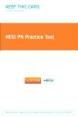 cover image - HESI PN Practice Test (2 Year Version) - Classic Version