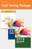 cover image - 2019 ICD-10-CM Physician Edition, 2019 HCPCS Professional Edition and AMA 2019 CPT Professional Edition Package