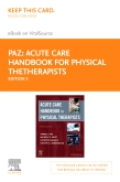 cover image - Acute Care Handbook for Physical TheTherapists Elsevier eBook on VitalSource (Retail Access Card),5th Edition