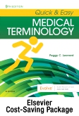 cover image - Quick & Easy Medical Terminology - Text and Elsevier Adaptive Learning Package,9th Edition