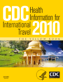 Cover of book, CDC Health Information for International Travel 2010
