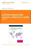 cover image - Promoting Health: A Practical Guide - Elsevier eBook on VitalSource (Retail Access Card),7th Edition