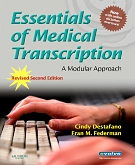 cover image - Evolve Learning Resources to Accompany Essentials of Medical Transcription,2nd Edition