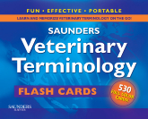 cover image - Saunders Veterinary Terminology Flash Cards