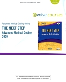 Advanced Medical Coding Online 2009 for The Next Step, Advanced Medical Coding 2009 Edition