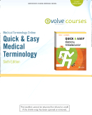 cover image - Medical Terminology Online for Quick & Easy Medical Terminology (User Guide and Access Code),6th Edition