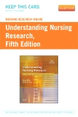 Nursing Research Online for Understanding Nursing Research (User's Guide and Access Code), 5th Edition