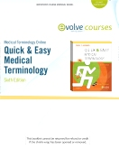 Medical Terminology Online for Quick & Easy Medical Terminology, 6th Edition