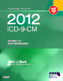 cover image - 2012 ICD-9-CM for Physicians, Volumes 1 and 2, Standard Edition (Softbound)