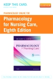 Pharmacology Online for Pharmacology for Nursing Care, 8th Edition