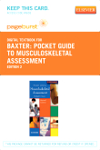 Pocket Guide to Musculoskeletal Assessment - Elsevier eBook on VitalSource (Retail Access Card), 2nd Edition