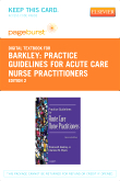 cover image - Practice Guidelines for Acute Care Nurse Practitioners - Elsevier eBook on VitalSource (Retail Access Card),2nd Edition