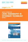 cover image - Radiography in Veterinary Technology - Elsevier eBook on VitalSource (Retail Access Card),4th Edition