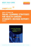 Learning Strategies for Health Careers Students (Revised Reprint) - Elsevier eBook on VitalSource (Retail Access Card)