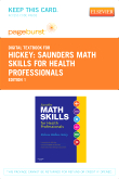 cover image - Saunders Math Skills for Health Professionals - Elsevier eBook on VitalSource (Retail Access Card)