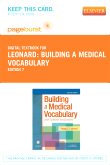 cover image - Building a Medical Vocabulary - Elsevier eBook on VitalSource (Retail Access Card),7th Edition