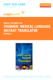 Medical Language Instant Translator - Elsevier eBook on VitalSource (Retail Access Card), 4th Edition
