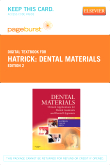 cover image - Dental Materials - Elsevier eBook on VitalSource (Retail Access Card),2nd Edition