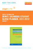 Saunders Student Nurse Planner, 2011-2012 - Elsevier eBook on VitalSource (Retail Access Card), 7th Edition