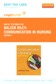 Communication in Nursing - Elsevier eBook on VitalSource (Retail Access Card), 7th Edition