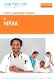 Career Advancement Program for HIPAA (User Guide and Access Code)