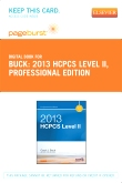 2013 HCPCS Level II Professional Edition - Elsevier eBook on VitalSource (Retail Access Card)