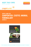 Exotic Animal Formulary - Elsevier eBook on VitalSource (Retail Access Card), 4th Edition