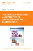 cover image - Principles and Practice of Single Implant and Restorations - Elsevier eBook on VitalSource (Retail Access Card)