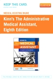 cover image - Medical Assisting Online for Kinn's The Administrative Medical Assistant (User Guide and Access Code),8th Edition