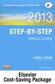 cover image - Step-by-Step Medical Coding 2013 Edition - Text, Workbook, 2013 ICD-9-CM for Hospitals, Volumes 1, 2, & 3 Professional Edition, 2013 ICD-10-CM Draft Standard Edition, 2013 HCPCS Level II Professional Edition and 2013 CPT Professional Edition Package