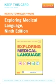 cover image - Medical Terminology Online for Exploring Medical Language (Access Card),9th Edition