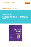 cover image - Maternity Nursing - Elsevier eBook on Intel Education Study (Retail Access Card),11th Edition
