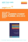 Saunders Student Nurse Planner, 2012-2013 - Elsevier eBook on VitalSource (Retail Access Card), 8th Edition