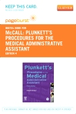 cover image - Plunkett's Procedures for the Medical Administrative Assistant - Elsevier eBook on VitalSource (Retail Access Card),4th Edition
