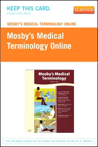 cover image - Mosby's Medical Terminology Online - Retail Pack