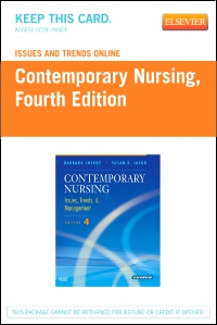 cover image - Issues and Trends Online for Contemporary Nursing (Access Code),4th Edition